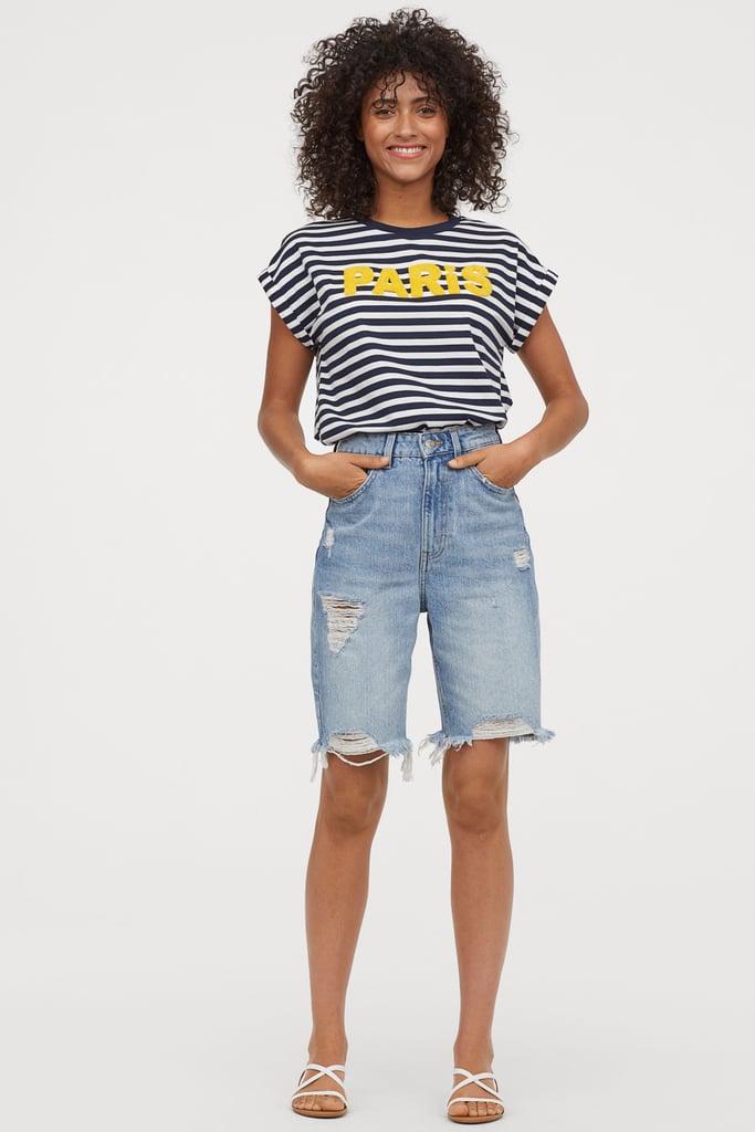 9354719e2 H&M Denim Shorts High Waist   What Shorts Are in Style?   POPSUGAR ...