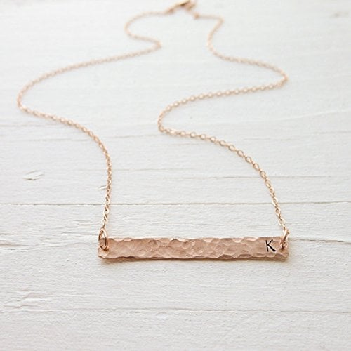 Camilee Designs Rose Gold Bar Necklace