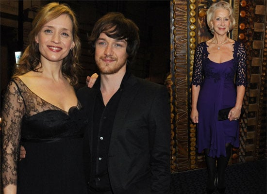 Photos of Pregnant Anne-Marie Duff, James McAvoy and Helen Mirren at The Last Station Premiere in London