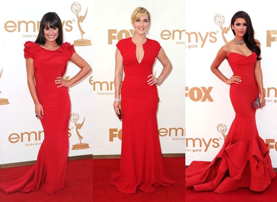 Red Dresses Rule the Red Carpet at the 2011 Emmys With Lea Michele, Nina Dobrev, Kate Winslet, Kerry Washington & More!