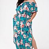Plus-Size Floral Print Maxi Dress