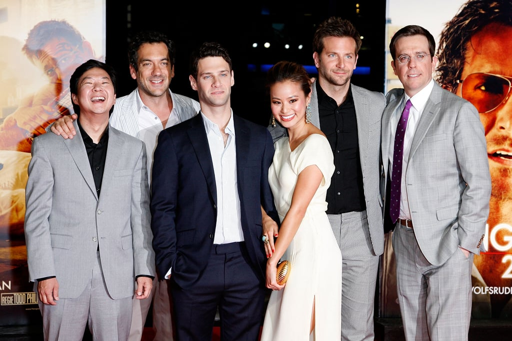 Bradley Cooper, Ed Helms, Zach Galifianakis, Jamie Chung, and Ken Jeong at the Berlin Hangover Part II Premiere