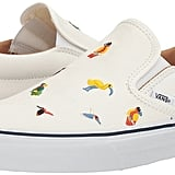 Check out these Vans Slip-On 59 True White Skate Shoes ($70) that have an adorable bird print.