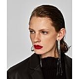 Zara Rhinestone Fringe Earrings