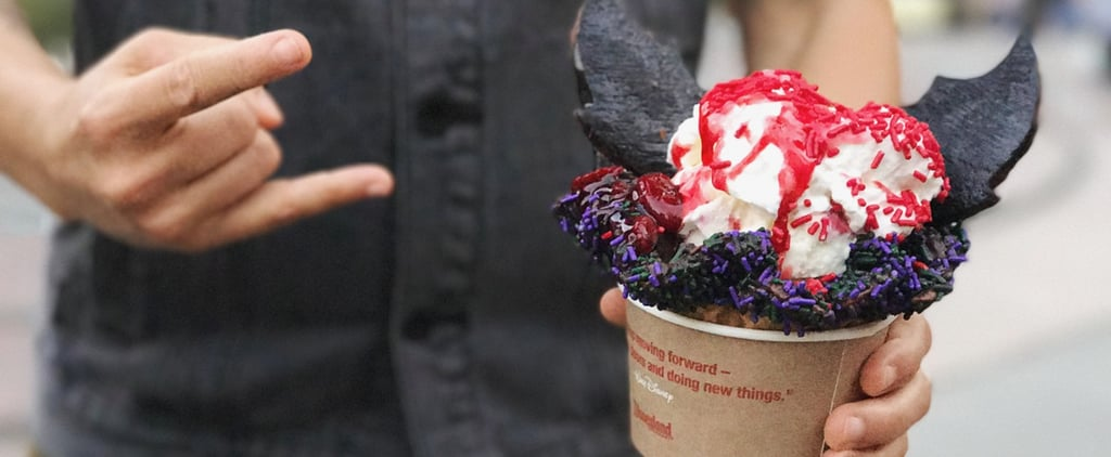 People Are Going Batsh*t Crazy Over This Goth Halloween Sundae at Disneyland