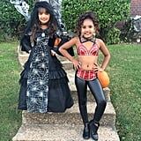 Like Selena and her mom, recruit your little girl to bedazzle a bustier, then pair it with leather leggings and a sassy attitude.