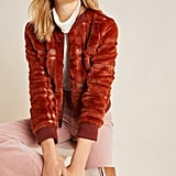 Plaid Teddy Bomber Jacket