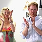 Harry and singer Joss Stone spent the day bonding with a children's choir from South Africa in June.