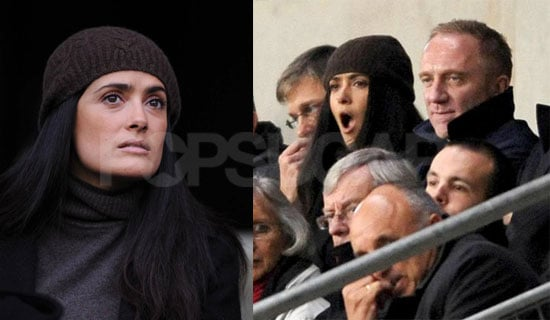 Photos of Salma Hayek and Francois-Henri Pinault in Rennes, France