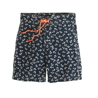 Anchors away! Nautical boardshorts ($48) from J.Crew are a great way to spend the Summer holiday by the sea or pool.