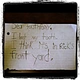 LAUGH: Don't let the kids see, but these notes to the tooth fairy are hilarious!