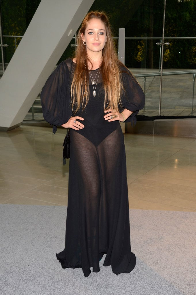 GIRLS star Jemima Kirke was arguably one of the most daring in a sheer black gown.
