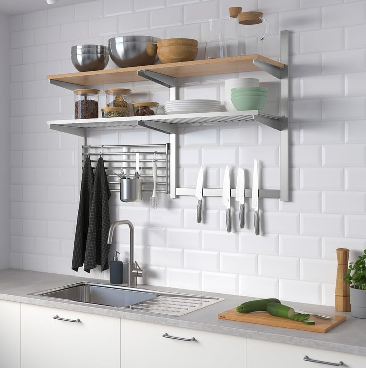 outstanding ikea kitchen wall storage | Kungsfors Wall Storage With Grid and Knife Rack | Best ...