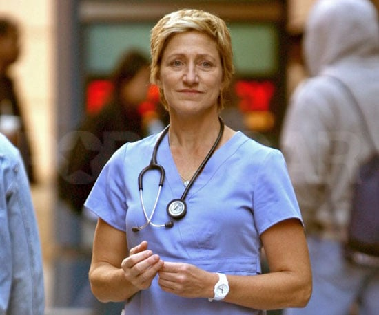 Slide Picture of Edie Falco on the Set of Nurse Jackie in NYC