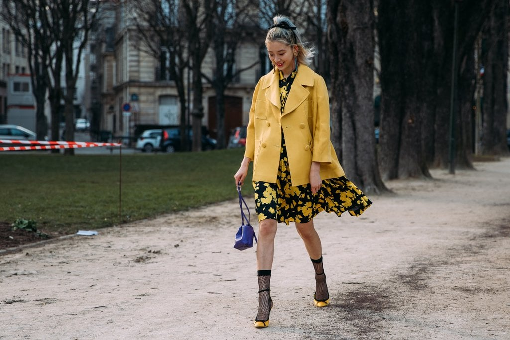 There is nothing mellow about Irene Kim's yellow look.