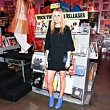 Gwyneth Broke Out Her Blue Suede Shoes