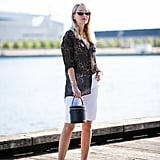 Style White Shorts With an Animal-Print Top and White Heels