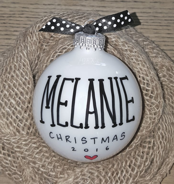 Glass Ball Name Ornament | Personalized Christmas ...