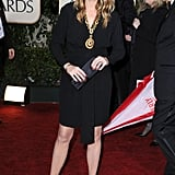 Julia channelled her boho side in a vintage YSL dress and gold pendant necklace at the 2010 Golden Globe Awards.