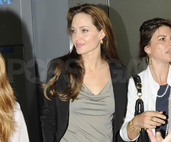 Slide Picture of Angelina Jolie Attending the Salt Press Junket in Washington DC