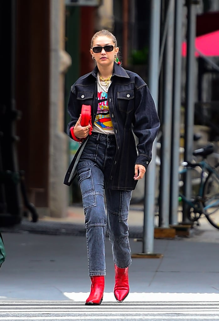 Gigi Hadid in Soho During New York Fashion Week