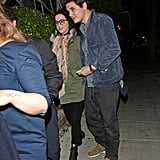 Katy Perry and John Mayer showed PDA after dinner.