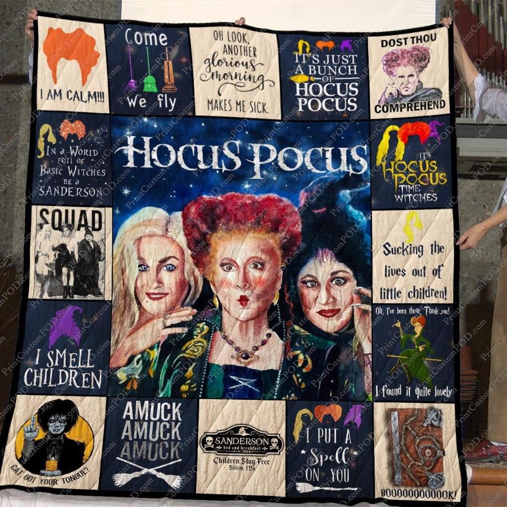 Hocus Pocus Halloween Sanderson Sisters Fleece Blanket