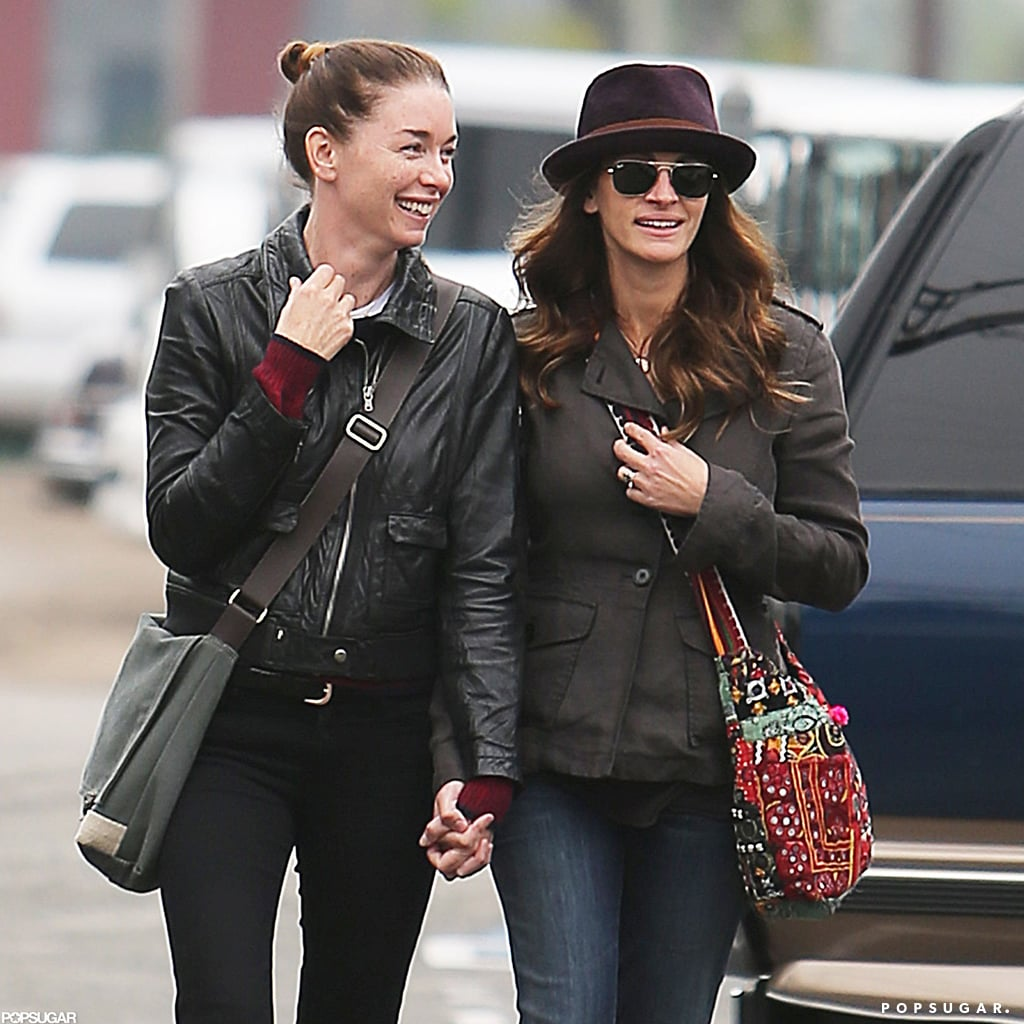 Julia Roberts kept a low profile in sunglasses and a hat.