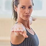 Getting ready for the London Marathon, Christy Turlington is logging fewer miles and working on staying focused and balanced with yoga.