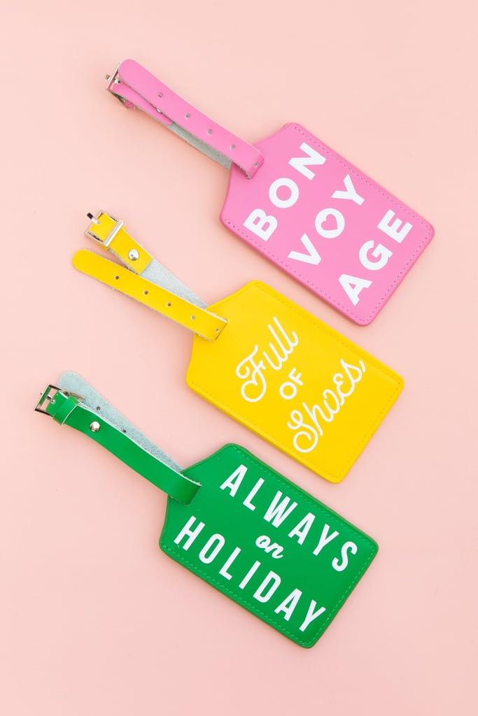 DIY Typographic Luggage Tags