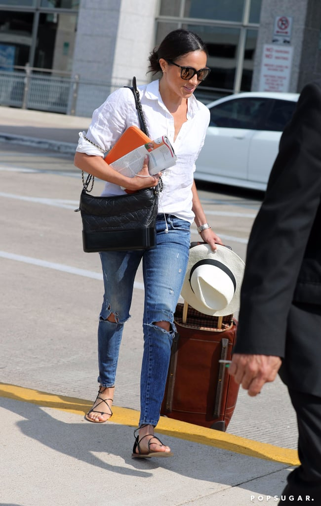Meghan Markle Orange Travel Bag