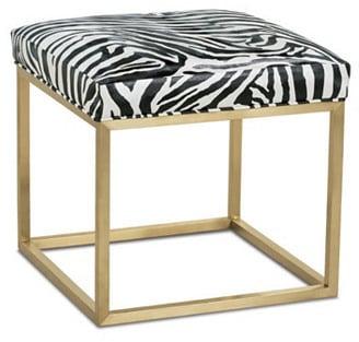 Zebra Ottoman ($915)