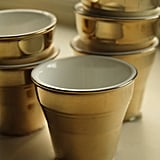 I start off every morning with a shot of espresso, and these gold espresso cups ($77 for six) would give my a.m. ritual the Midas touch. — Tara Block, assistant editor