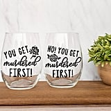 "Schitt's Creek ""You Get Murdered First"" Wine Glass Set"