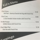 This Is Actually the Best Kid's Menu You Will Ever See