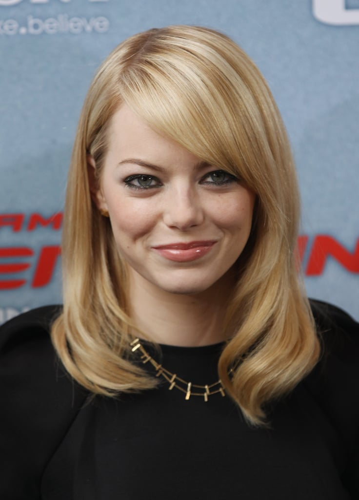 Emma Stone posed at the Berlin photocall for The Amazing Spider-Man.