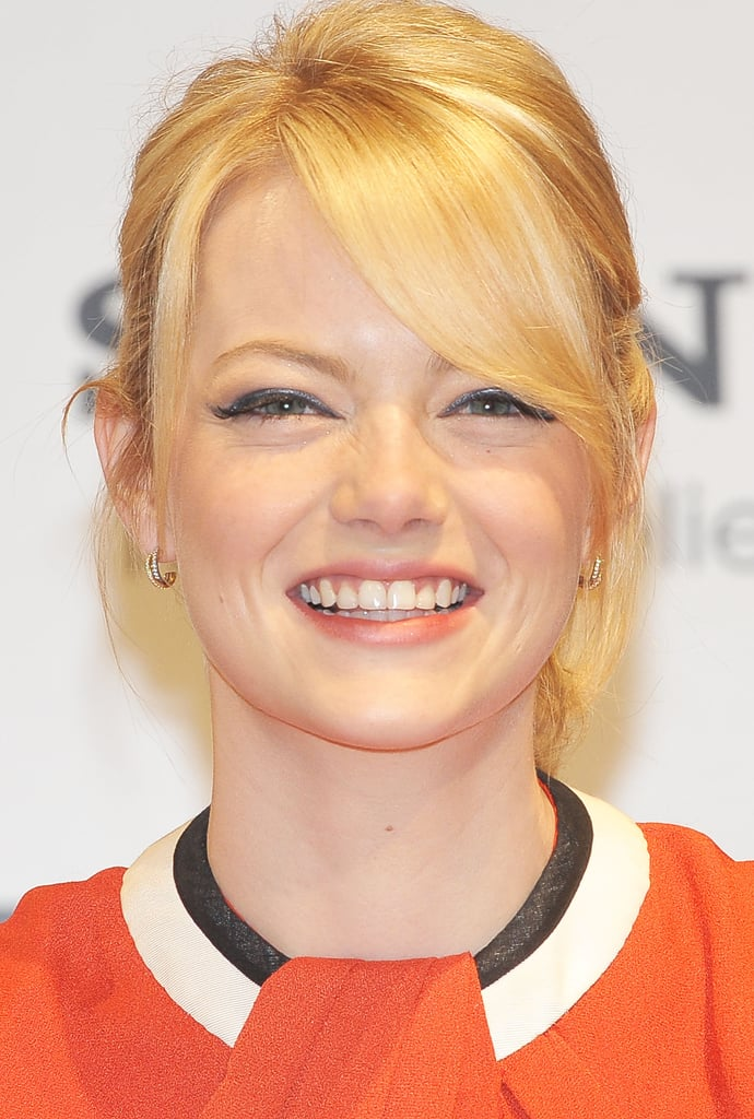 Emma Stone had a laugh at the press conference for The Amazing Spider-Man in Japan.