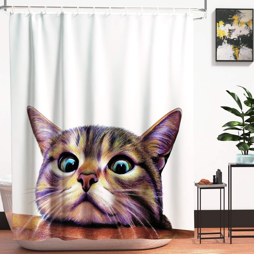 Scaredy Cat Shower Curtain Funny And Weird Shower Curtains On Amazon 2019 Popsugar Home Uk Photo 10