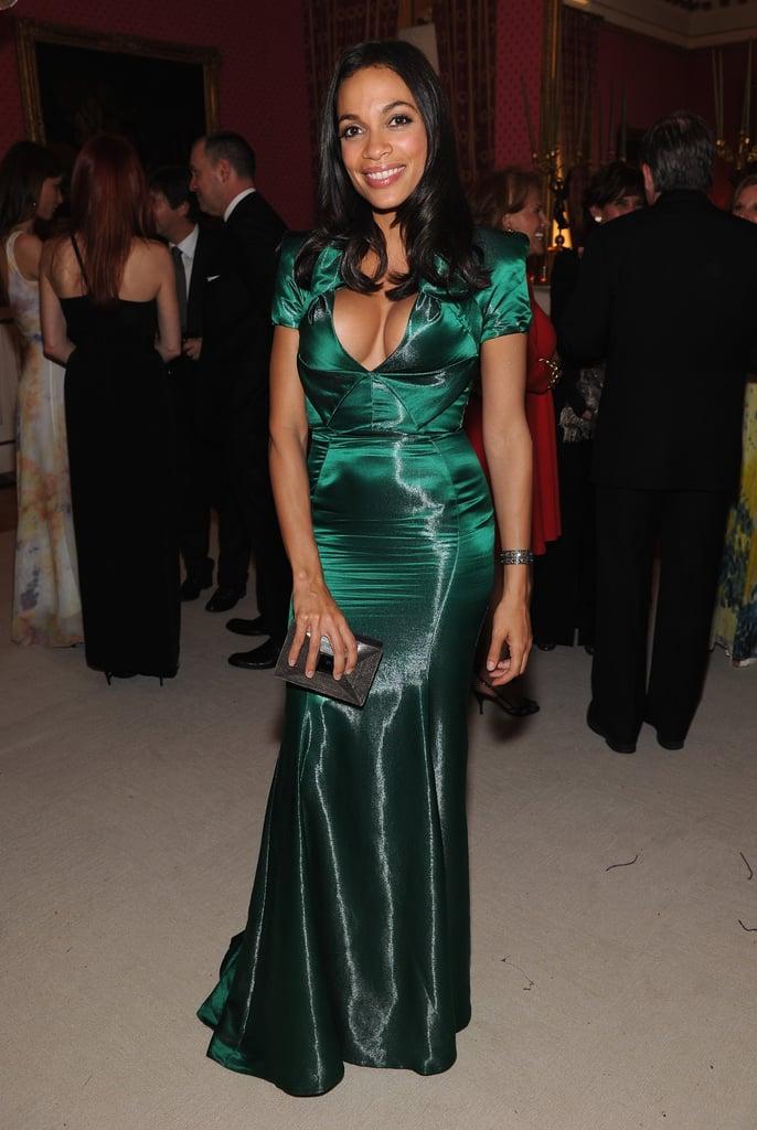 Rosario Dawson was stunning in green.