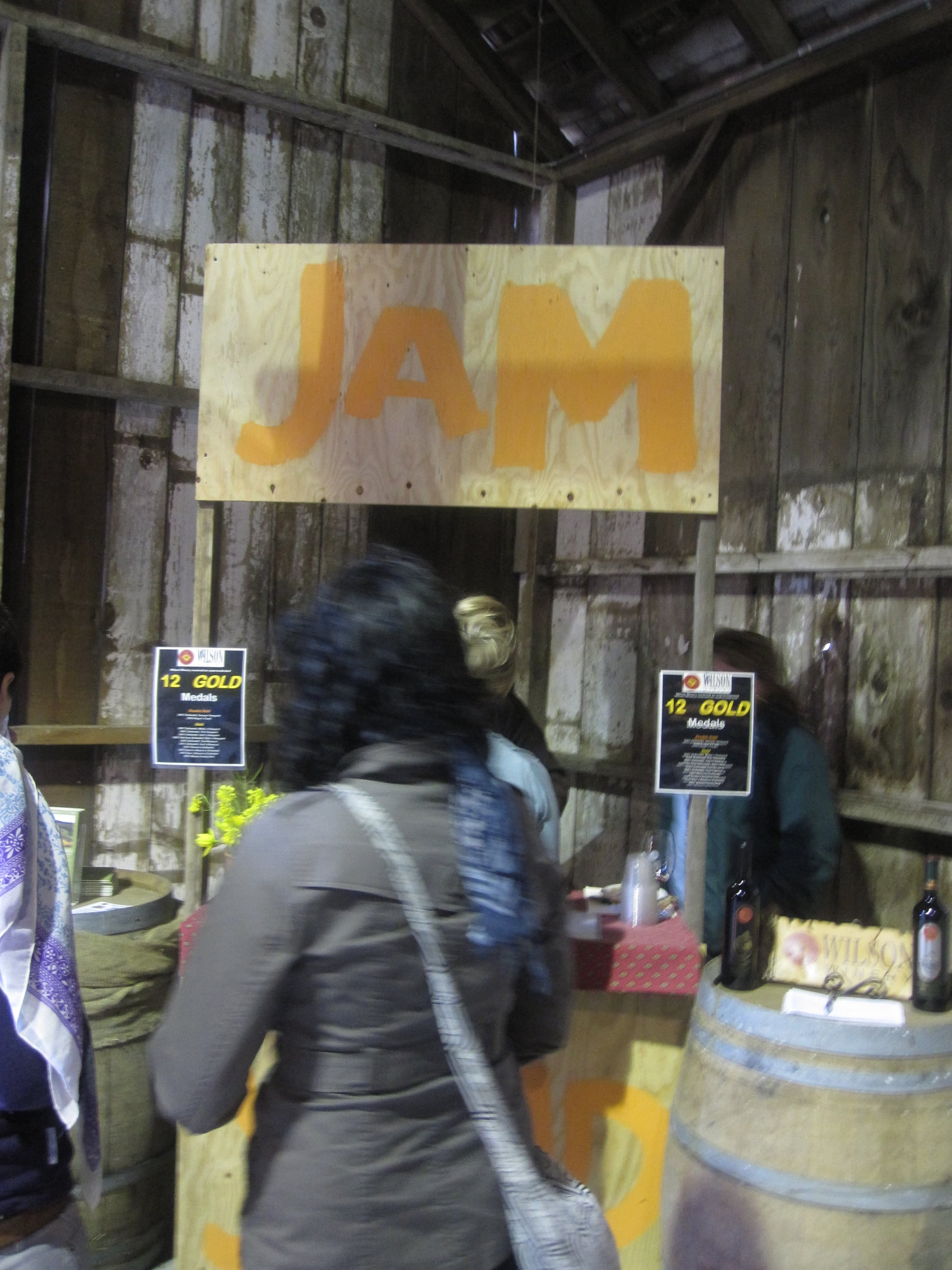 The wine stand was labeled Jam.