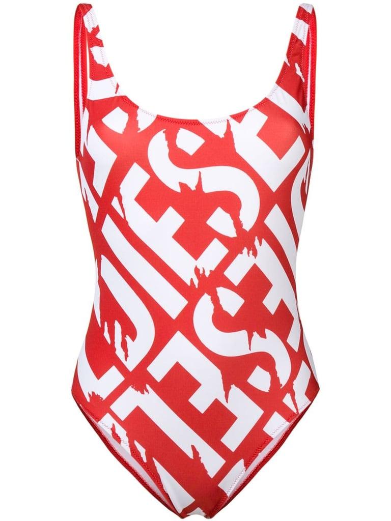 5ae21c73b3f Diesel logo print swimsuit | Khloe Kardashian Red Louis Vuitton ...