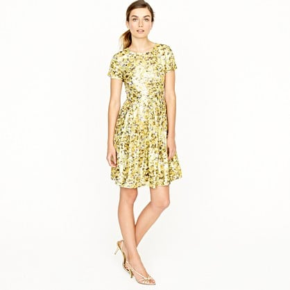 Add colorful wedge sandals and a classic blazer and you've got a metallic look worth wearing to the office. J.Crew Metallic Jacquard Dress ($395)