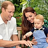William, Kate, and George visited the butterfly house at the Natural History Museum in July 2014.