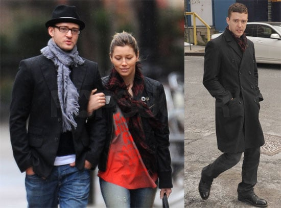 Photos of Justin Timberlake and Jessica Biel in NYC, Video of SNL Weekend Update with Jessica Rabbit