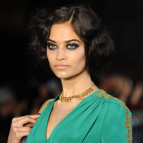 Blue Makeup and Nail Trend For Fall 2012