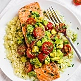 Salmon With Cauliflower Rice and Avocado Salsa