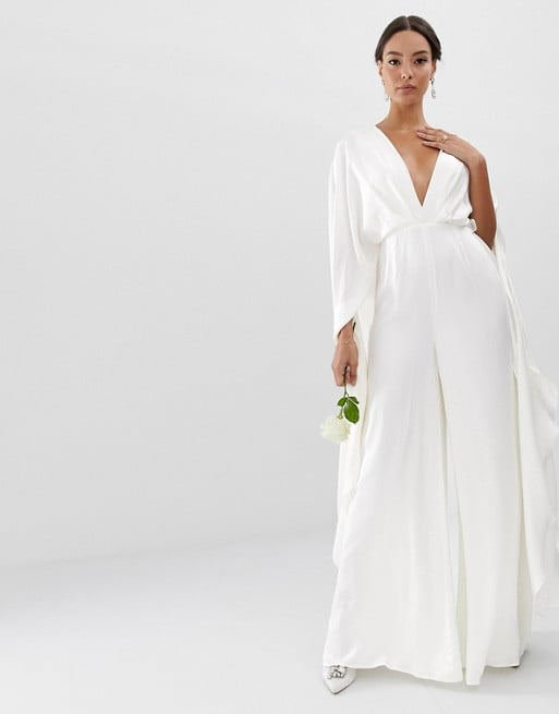 Asos Edition Cape Sleeve Wedding Jumpsuit