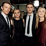 Diane Kruger met up with costars Jake Abel, Max Irons, and Saoirse Ronan.