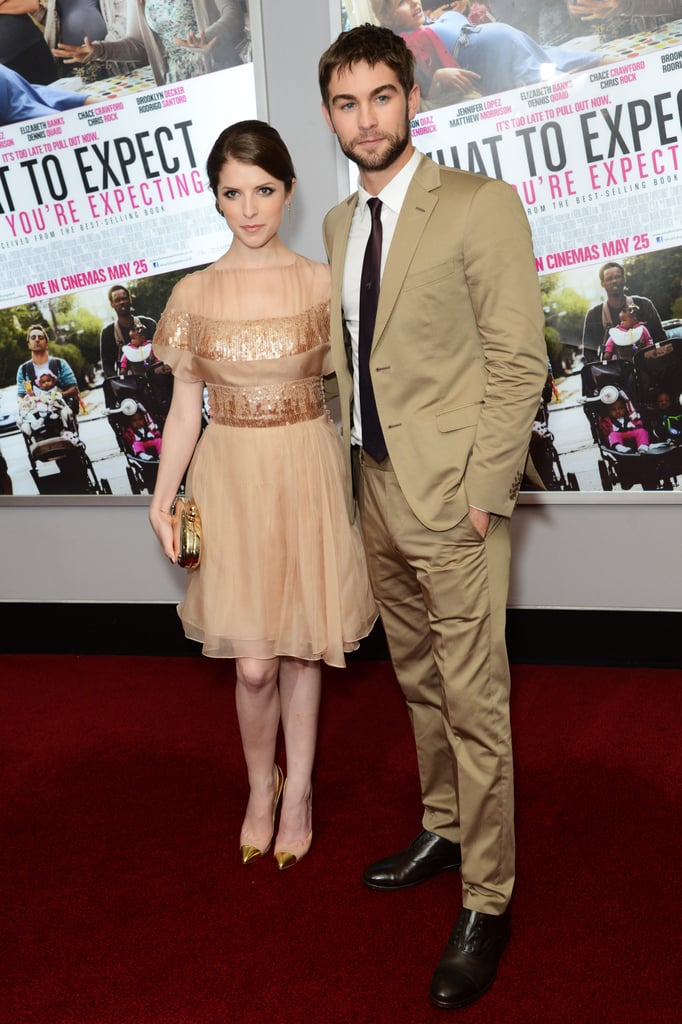 Chace Crawford and Anna Kendrick arrived in London for the What to Expect When You're Expecting UK premiere.