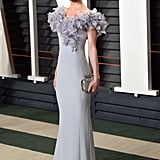 Kate showed up to the 2016 Vanity Fair Oscars party in a lavender Ralph & Russo number with a floral appliqué neckline.